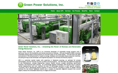 Screenshot of Home Page gps-biomass.com - Green Power Solutions | Biomass Renewable Energy Resources - captured Sept. 18, 2015