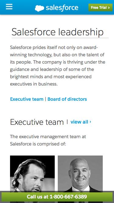 Screenshot of Team Page  salesforce.com - Salesforce Cloud Computing Leaders - Salesforce.com