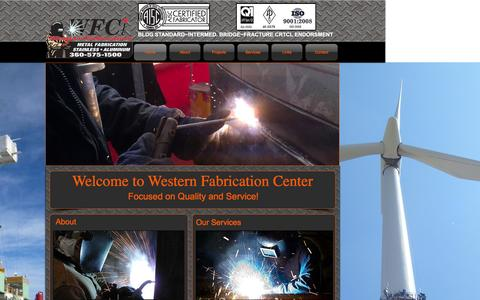 Screenshot of Home Page westernfab.com - Western Fabrication Center, LLC - captured Feb. 25, 2016