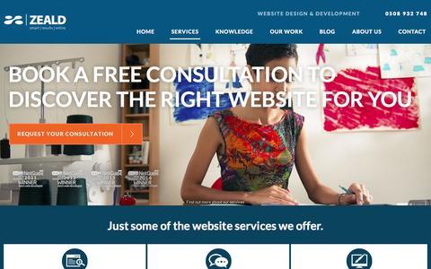 Screenshot of Services Page zeald.com - Business Website Design Services: Development, Quote, Audit, Build - captured Oct. 26, 2015
