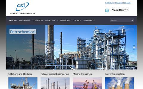 Screenshot of Home Page csi-pl.com - Home - captured Oct. 1, 2014