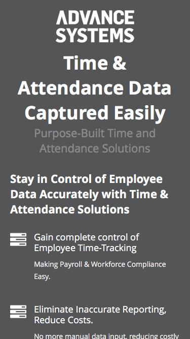 Time Attendance Software Demo | Advance Systems