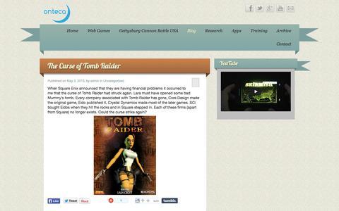 Screenshot of Blog onteca.com - Onteca - captured Oct. 26, 2014