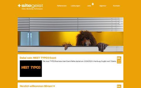 Screenshot of Press Page sitegeist.de - News- sitegeist - captured May 22, 2016