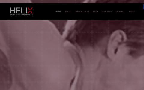 Screenshot of Home Page helixsp.com - Helix Sports Performance - captured Jan. 28, 2016
