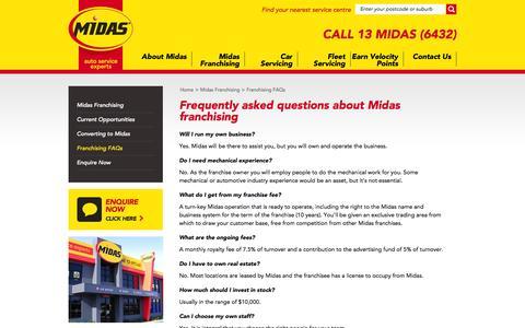 Screenshot of midas.com.au - Midas - Car Service   Brake Service   Auto Service   Exhaust   Suspension - captured Oct. 4, 2015