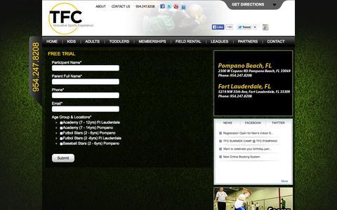 Screenshot of Trial Page thefutbolclub.com - Free Trial «  The Futbol Club - captured Oct. 7, 2014