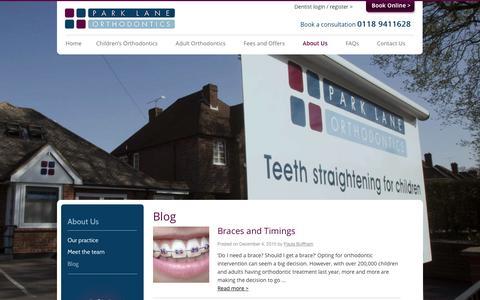 Screenshot of Blog parklaneorthodontics.co.uk - Orthodontics Blog - Park Lane Reading Berkshire - captured Dec. 7, 2015