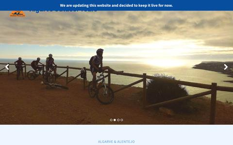 Screenshot of Home Page outdoor-tours.com - Algarve Outdoor Tours | Algarve Outdoor Tours - captured Nov. 18, 2018