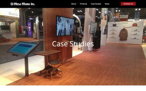 Screenshot of Case Studies Page mesamundi.com - Case Studies | Digital gaming table, holographic experience & more - captured Oct. 18, 2017