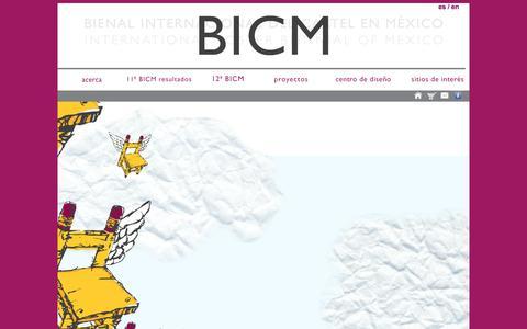 Screenshot of Home Page bienalcartel.org.mx - Bienal Internacional del Cartel en México - captured March 12, 2016