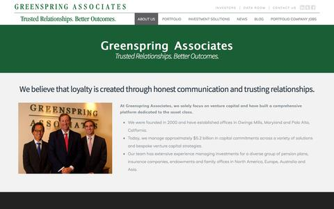 Screenshot of About Page greenspringassociates.com - About Us | Greenspring Associates - captured Feb. 17, 2018