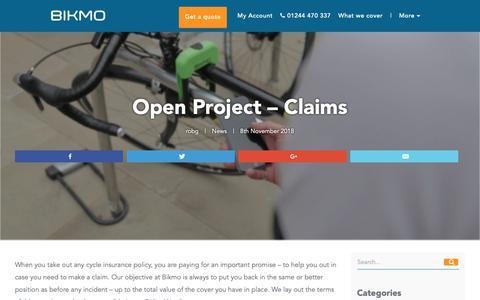 Screenshot of Press Page bikmo.com - Open Project - Claims - Bikmo - captured Dec. 27, 2018