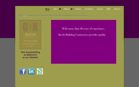 Screenshot of Home Page keethbuilding.com - Keeth Building Contractors - Home - captured Sept. 6, 2015