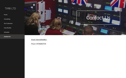 Screenshot of Contact Page google.com - TX98 LTD - Contact Us - captured Nov. 13, 2017
