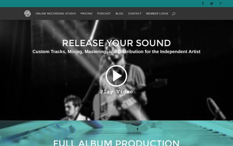 Screenshot of Home Page sosstudio.co - Online Recording Studio & Distribution - SOSstudio - captured Sept. 12, 2015