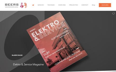 Screenshot of Home Page beerselektro.nl - Home - Beers Elektro Service - captured Oct. 5, 2018