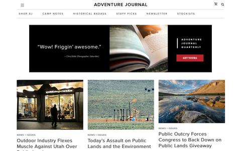 News + Issues Archives - adventure journal