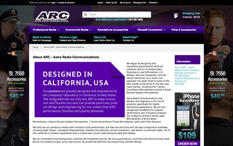 Screenshot of About Page arcmics.com - About ARC - Astra Radio Communications | ARC - captured Oct. 4, 2014