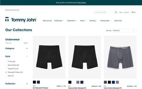 Shop Men's Boxer Shorts Online | Tommy John