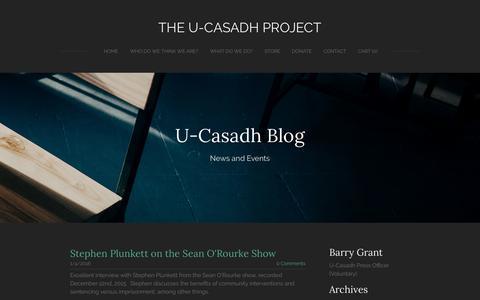 Screenshot of Blog ucasadh.ie - The U-Casadh Project - Blog - captured Nov. 17, 2016