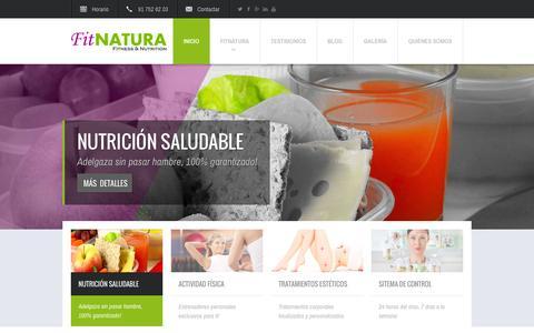 Screenshot of Home Page snkfit.com - FitNatura - Tu nuevo estilo de vida - captured Sept. 30, 2014