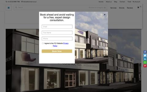 Screenshot of Contact Page fcilondon.co.uk - How to get to FCI - London's Largest Furniture Showroom. - captured Nov. 8, 2019
