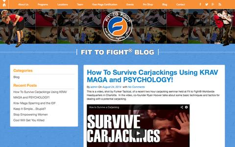 Screenshot of Blog fit-to-fight.com - Blog | Fit-to-Fight - captured Sept. 19, 2014