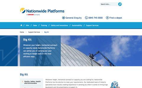 Screenshot of nationwideplatforms.co.uk - Nationwide Platforms - Big Kit | Nationwide Access | Platform Access | Truck & Van Mount Access Platforms - captured Dec. 31, 2017
