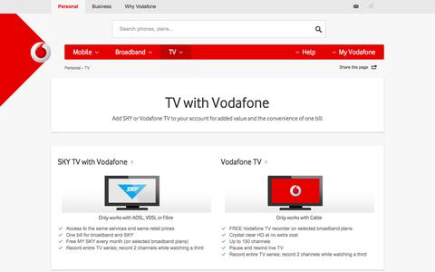 TV – cable, Sky, movies and sport - Vodafone NZ