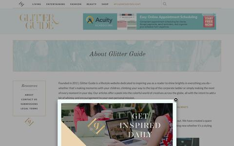 Screenshot of About Page theglitterguide.com - About Glitter Guide | Glitter Guide - captured Jan. 14, 2016