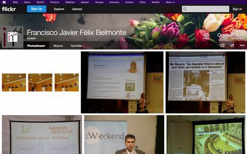 Screenshot of Flickr Page flickr.com - Flickr: Inode64's Photostream - captured Oct. 23, 2014