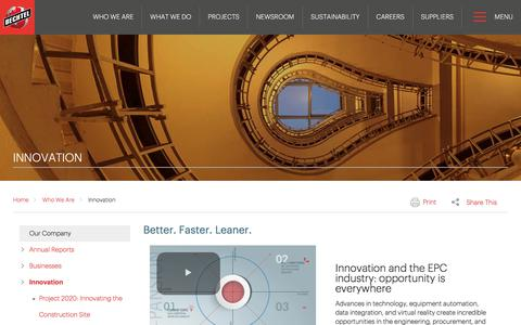 Accelerating Innovation in the EPC Industry - Bechtel