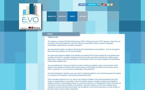 Screenshot of Terms Page evo-re.com - EVO Real Estate Group | A Member of NAI Global - captured July 11, 2017