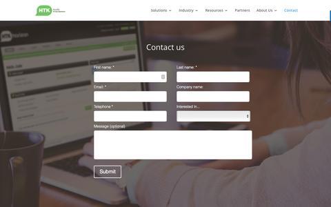 Screenshot of Contact Page htk.co.uk - Contact - HTK - captured May 13, 2017