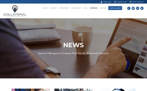 Screenshot of Press Page collateralmanagement.org - News – Collateral Management - captured Oct. 24, 2019
