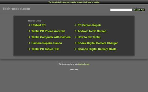 Screenshot of Home Page tech-modo.com - Tech-Modo.com - captured Sept. 26, 2014