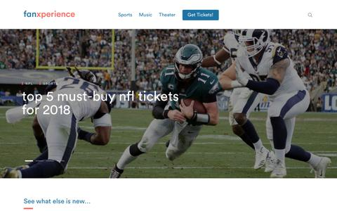 Screenshot of Blog fanxchange.com - The Fanxperience: Sports, Music and Theater Blog by Fanxchange - captured July 13, 2018