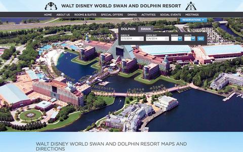 Screenshot of Maps & Directions Page swandolphin.com - Walt Disney World Swan and Dolphin resort Maps | SwanDolphin.com - captured Nov. 3, 2014