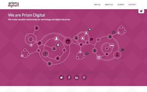 Screenshot of Home Page prism-digital.com - Prism Digital - captured Sept. 30, 2014
