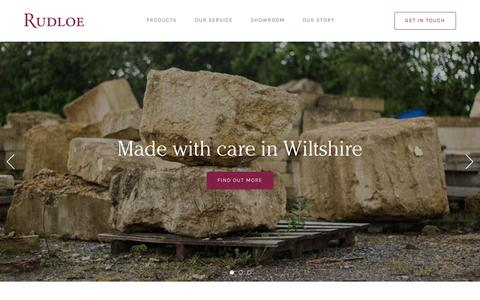 Screenshot of Home Page rudloe-stone.com - Rudloe | Cast and natural stone fireplaces made in Wiltshire - captured Feb. 15, 2016