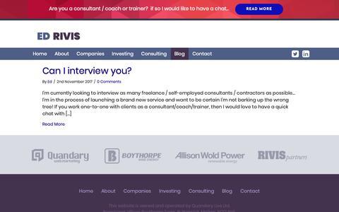 Screenshot of Blog edrivis.com - Blog – Ed Rivis - captured Nov. 16, 2018