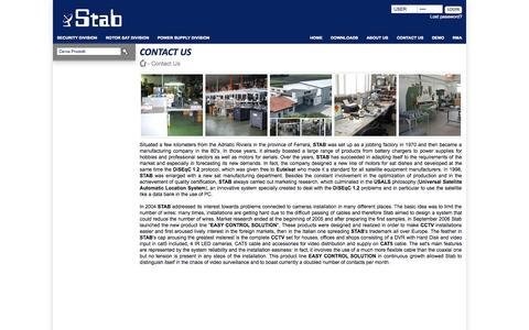 Screenshot of About Page stab-italia.it - STAB | Contact Us - captured Oct. 3, 2014