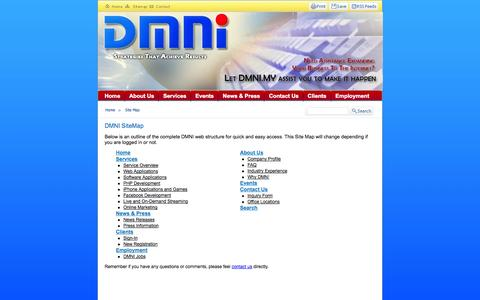 Screenshot of Site Map Page dmni.my - Site Map - captured Oct. 5, 2014