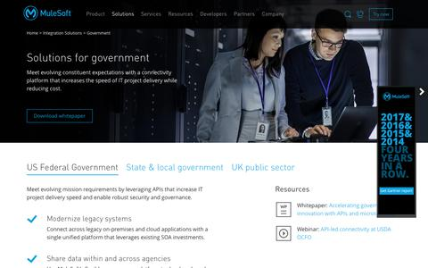 Government Integration Solutions | The Integration Platform for Government | MuleSoft