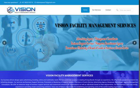Screenshot of Home Page vfms.in - VISION FACILITY MANAGEMENT SERVICES – VISION FACILITY MANAGEMENT SERVICES - captured Nov. 16, 2018