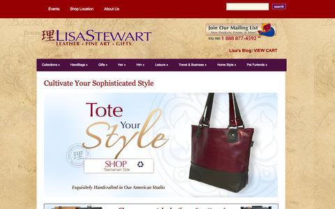 Screenshot of Home Page lisa-stewart.com - Lisa Stewart Designs | Inventive, Elegant, Style - captured Jan. 23, 2015