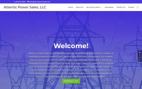 Screenshot of Home Page atlanticpowersales.com - Welcome - Atlantic Power Sales, LLC - captured Nov. 6, 2018