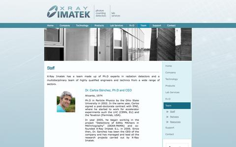 Screenshot of Team Page xray-imatek.com - Staff - captured Sept. 17, 2014