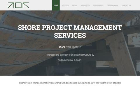 Screenshot of Home Page Services Page Menu Page Testimonials Page shorepms.co.uk - Home - Shore Project Management Services - captured Dec. 21, 2016